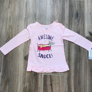 NEW Carter's Awesome Sauce Hot Dog Top 2T